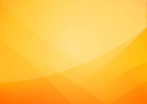 Abstract Yellow and orange warm tone background with simply curve lighting element vector eps10
