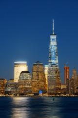 Wall Mural - New York City skyline at night