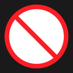no etntry flat icon, Traffic and road sign, vector graphics, a solid pattern on a black background, eps 10.