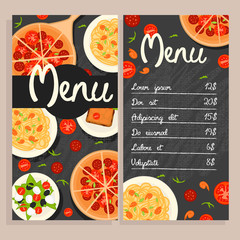 Colorful Italian Restaurant Menu Template