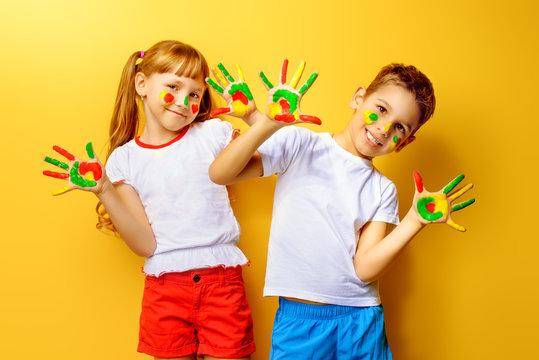 colorful kids palms