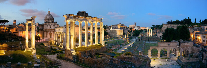 Fotomurales - Rome Forum night panorama