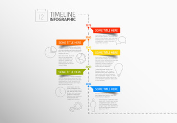 Vertical Timeline Inforgraphic