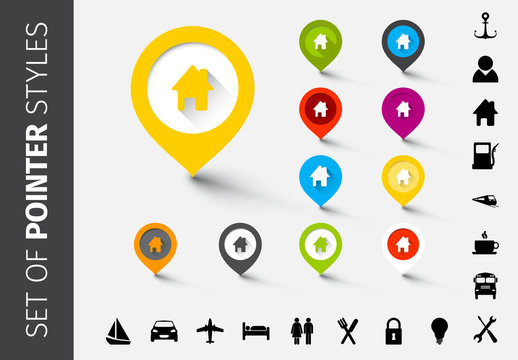 Customizable Location Marker Icons