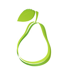 Logo with Silhouette of Pear