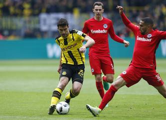 Borussia Dortmund's Sokratis Papastathopoulos before scoring their second goal
