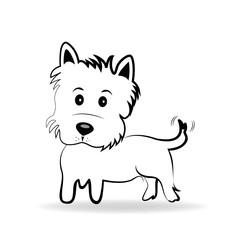 Yorkshire Terrier Cartoon Vector Logo