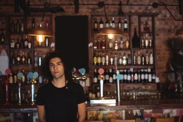 Portrait of male bar tender