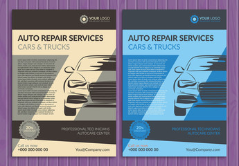 Automotive Services Flyer Layout 6