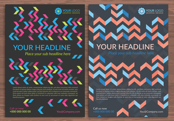 Multipurpose Flyer Layout with Geometric Elements 2
