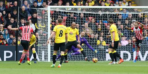 Southampton's Dusan Tadic scores their first goal