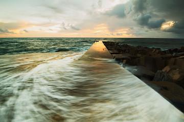 Sonnenuntergang atlantischer Ozean