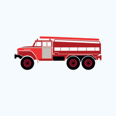 red fire truck fire engine icon