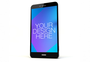 Isolated Smartphone on White Mockup 2