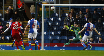 Cardiff City's Kenneth Zohore scores his sides first goal