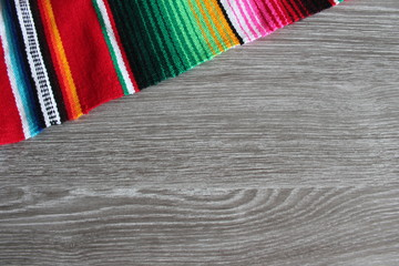 poncho serape background Mexican cinco de mayo fiesta wooden copy space stock, photo, photograph, image, picture,