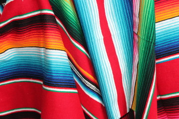 mexican poncho serape background cinco de mayo mexican fiesta wooden copy space stock, photo, photograph, picture, image,