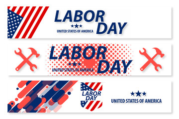 United state of America Labor Day poster design
