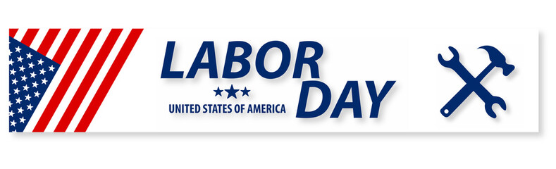 United state of America Labor Day poster design