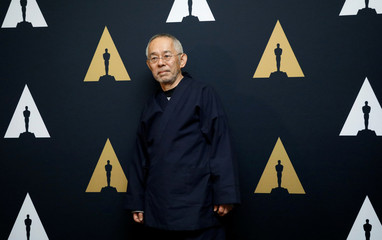 "Producer Suzuki of ""The Red Turtle,"" Oscar nominee for Animated Feature Film, pose at a reception at the Academy of Motion Picture Arts and Sciences in Beverly Hills"