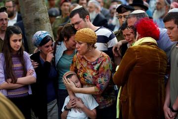 Funeral of Israeli soldier Elhai Taharlev in Jerusalem