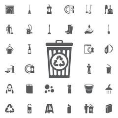 Vector bin recycle Icon.