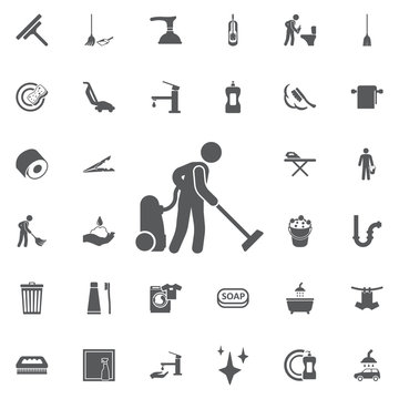 Cleaner icon illustration isolated vector sign symbol.