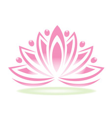 Logo team people spa lotus flower logo