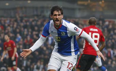 Blackburn Rovers' Danny Graham celebrates scoring their first goal