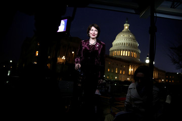 U.S. Representative Cathy McMorris Rodgers (R-WA), gives a television interview at the U.S. Capitol before President Donald Trump addresses a joint session of the U.S. Congress in Washington