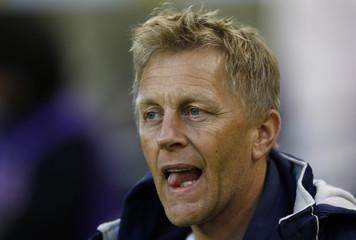 Iceland coach Heimir Hallgrimsson before the match