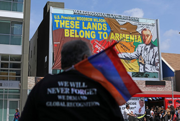 Armenians march and rally in Los Angeles
