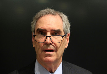 Ignatieff, rector of the Central European University, talks during a news conference in Budapest