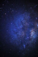 The center of the milky way galaxy,Long exposure photograph, with grain.