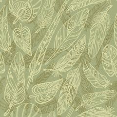 Pattern with feathers
