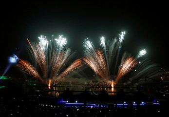 Fireworks explode during celebrations for naming Abha as 'Capital of Arab Tourism'