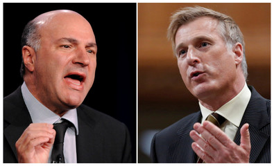 FILE PHOTO: Television personality and businessman Kevin O'Leary and Canada's former Minister of State for Small Business and Tourism Maxime Bernier