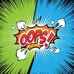 Oops! Comic Speech Bubble, Cartoon. art and illustration vector file.