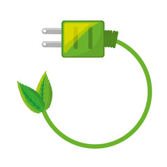 Green energy light icon vector illustration graphic design