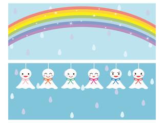 梅雨イメージ バナーセット