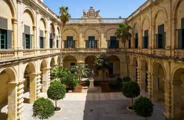 Neptune Courtyard in the Grandmaster's Palace. Valletta. Malta