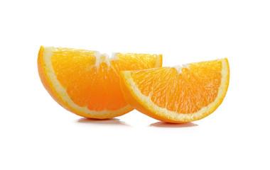 Orange slice on a white background