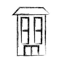 Real estate building icon vector illustration graphic design