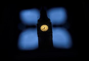 The Big Ben clock tower is seen in London