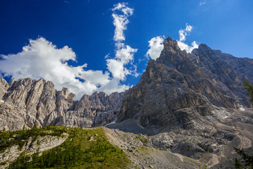 Beautiful Dolomite Alps  near Sorapis lake