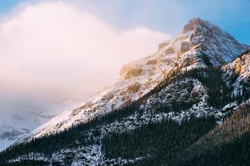 View of mountain peak against sky
