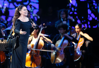 Spanish singer Isabel Pantoja performs during the 58th International Song Festival in Vina del Mar, Chile.