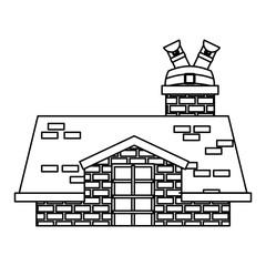 merry christmas cute house vector illustration design