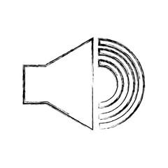 audio speaker interface menu vector illustration design