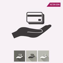 Credit card - vector icon.